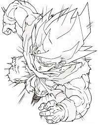 goku coloring pictures coloring pictures of goku super saiyan 4