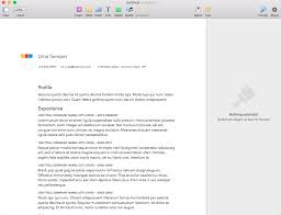 resume format on mac word shortcuts how to create a resume in apple pages mac