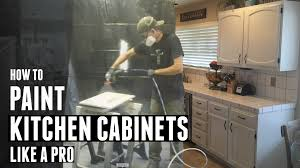 Best Paint Sprayer For Kitchen Cabinets How To Paint Kitchen Cabinets Like A Pro Youtube