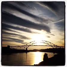Canap En Sky Sky Striped Golden Sky Cape Cod Canal Sagamore Bridge In