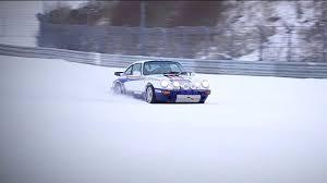 porsche snow porsche 911 rally car plus nürburgring plus snow the drive