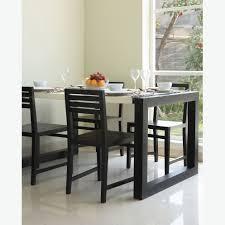 furniture white modern dining room alongside rectangular black
