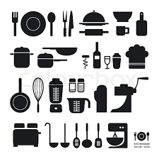 kitchen icon kitchen tool icons collection can be used for infographics