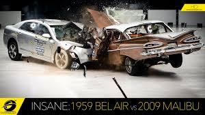 1959 F150 Crash Test 1959 Chevrolet Bel Air Vs 2009 Chevrolet Malibu Youtube