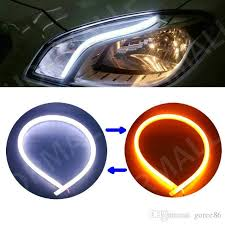 best led daytime running lights 45cm led flexible drl strip led daytime running lights with turn
