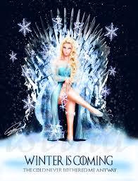 Elsa Frozen Meme - queen elsa frozen winter is coming by renarucas disney