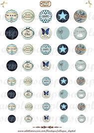 Cabochon Vorlagen Blau Digitale Kreise Cabochon Vorlagen Blau Cabochon Vorlagen