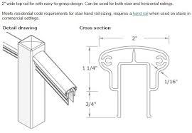 Stair Handrail Requirements Designrail Custom Aluminum Railings