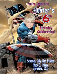 Personalized Invitation Card For Birthday Captain America Personalized Photo Birthday Invitations 1 29