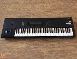 korg m1 61 key synth music workstation reverb