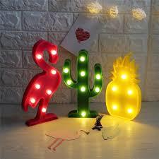 nursery ls with night lights 3d flamingo pineapple cactus night lights zalorelle ideas