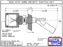 15 650 r ac side mtd wire recept level switch set compac