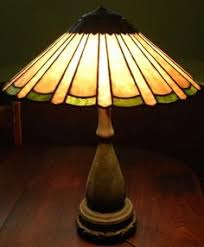 Antique Handel Desk Lamp Beautiful Vintage Amazing Condition Signed Handel Desk Lamp Sunset