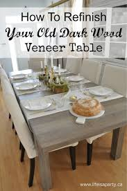 how to wood veneer furniture how to refinish a wood veneer dining room table