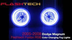 dodge magnum v 3 fusion colorshift led halo fog light kit 2005