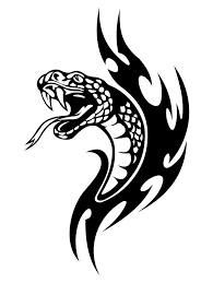 collection of 25 tribal snake tattoos set