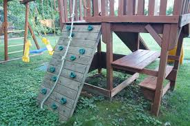 staining swing set with thompson u0027s waterseal wood stain