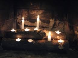 candle fireplace binhminh decoration