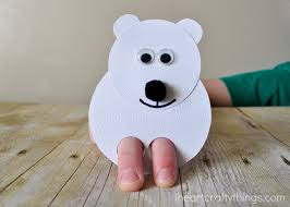 polar bear kids craft finger puppets i heart crafty things