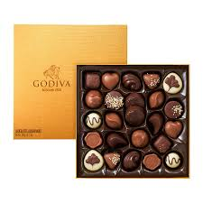 chocolate delivery godiva gold rigid box 24 chocolates delivery in germany by