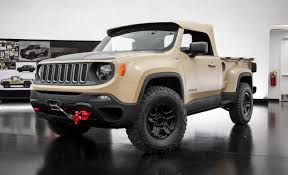 2015 jeep renegade diesel jeep revives the comanche as a renegade based trucklet