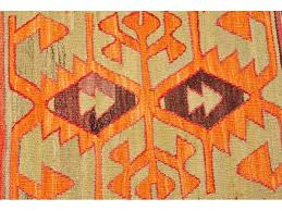 Oriental Decor Large Kilim Rug Orange Hand Woven Turkish Kilim Carpet Bohemian