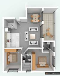 3d floor plan condo unit designer home living kitchen remodel