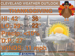 chilly but for thanksgiving day in cleveland weather