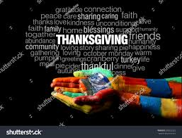 thanksgiving words happy thanksgiving words collage on colorful stock photo 598222223