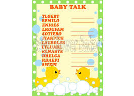rubber duck baby shower game baby word scramble rubber duck