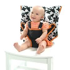traveling baby seat it just slips over the back of a chair so you
