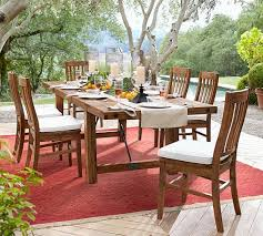 Extendable Dining Tables by Benchwright Outdoor Rectangular Extending Dining Table Pottery Barn