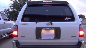 4th gen 4runner led tail lights 1998 toyota 4runner stock exterior lights youtube