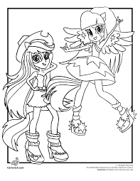coloring pages pony equestria girls rainbow rocks
