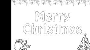 christmas colouring pages and kids colouring game youtube