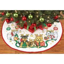 herrschners santa s helper tree skirt sted cross stitch