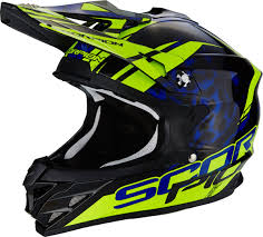 blue motocross helmet scorpion vx 15 air kistune cross helmet motorcycle motocross