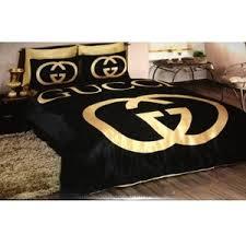 Black Duvet Cover King Size Gucci Bedding Set Satin Duvet Set Black Gold Polyvore