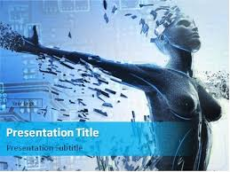 download defragmenting cyber woman powerpoint template 06 0028