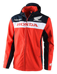honda motocross jersey troy lee honda wing tech jacket revzilla