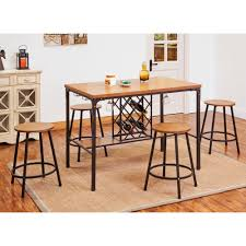 acme furniture dora oak wine storage pub bar table 72285 the