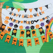 halloween party banner flag decoration pumpkin designed with
