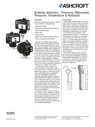 ashcroft pressure switches switch mechanical engineering