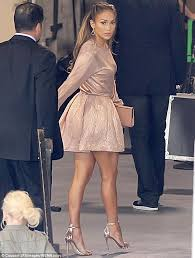Comfortable Heels For Dancing Jennifer Lopez 44 Shows Up For American Idol Taping In Flirty