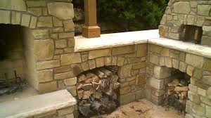 stone fireplace brick oven youtube