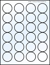 1 Inch Circle Template by Glossy Clear Laser Printable Labels 50 Sheets 1 5 8 Inch 4260c