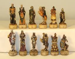 skeleton chess pieces