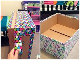 Build A Toy Box Kit by Best 25 Cardboard Box Storage Ideas On Pinterest Decorative