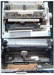 epson l replacement instructions epson lx 300 printer font selection not working repaired