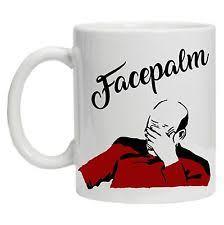 Meme Mug - star trek captain picard facepalm meme mug cup gift patrick